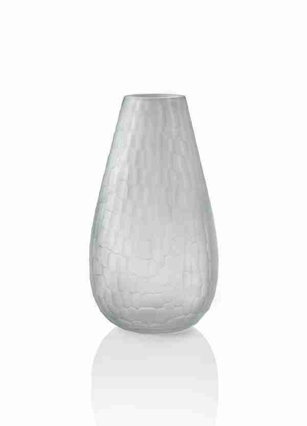 Blown Murano glass vase made with two colors that gradually blend into each other.