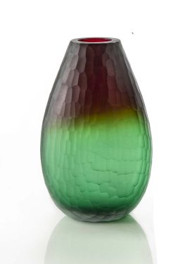 Shaded glass vase in Murano glass handmade by our glass masters according to the ancient Venetian art. Modern style.