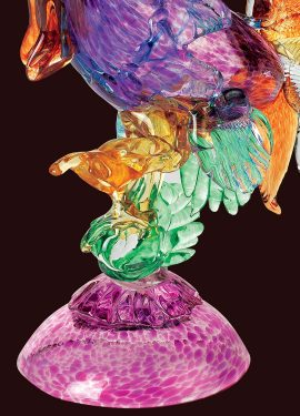 Rooster handmade in Murano glass by our glass masters. The rooster has multicolored details made with different colors.