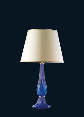Elegant table lamp, the lamp is made of Murano glass, whose color of the glass is covered with 24K gold leaf.