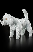Poodle with long hair, Murano glass sculpture available in 2 sizes entirely handmade by our glass masters.