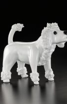 Poodle with short hair, Murano glass sculpture available in 2 sizes entirely handmade by our glass masters.